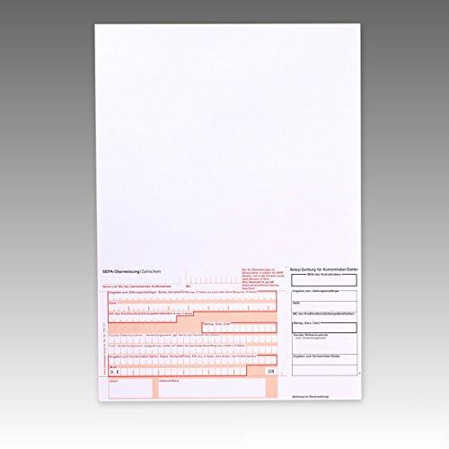 500 x SEPA – Überweisungsformular 732111 / Überweisungsformulare / Zahlschein / Zahlscheine , A4, SEPA-Vordruck, 90g/m²