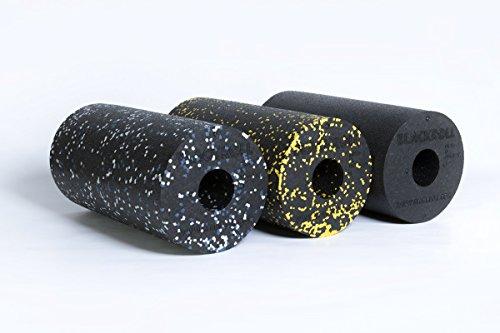 BLACKROLL-3er-SET das Original bestehend aus 1 x Standard Schwarz + 1 x Standard Schwarz/Gelb + 1 x Standard Schwarz/Blau + 3 x Übungs DVD + 3 x Übungsanleitung + 3 x Sportbeutel
