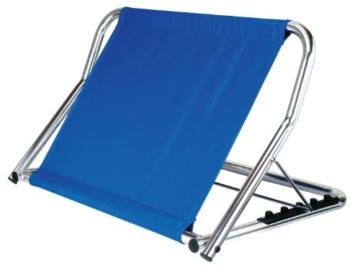 GAH-Alberts 140847 Rückensütze – Gestell: Aluminium, Rückenlehne: blaues Nylongewebe, 480 x 700 x 470 mm