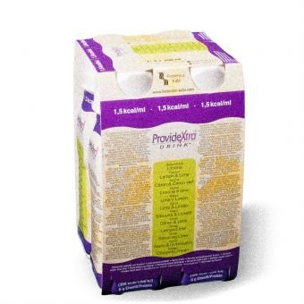 ProvideXtra DRINK Limone, 200 ml – niedermolekulare Zusatznahrung – 24 EasyDrinks