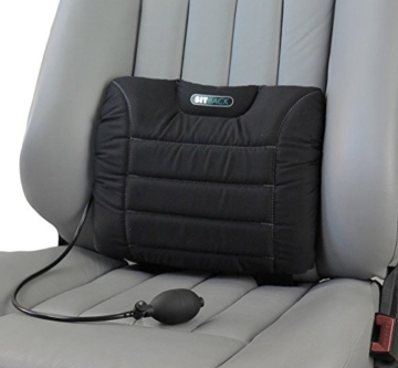 Sit-Back Air Rückenstützkissen Leder grau