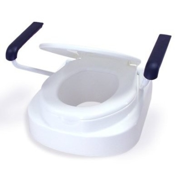 Toilettensitzerhöhung Toilettensitz Toilettenaufsatz mit Armlehnen Relaxon Star