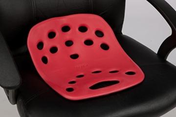 BackJoy Sitzschale – orthopädisches Sitzkissen rot / Posture + -
