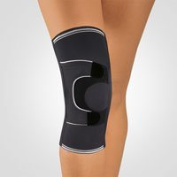 BORT Asymmetric® Kniebandage L plus schwarz links -