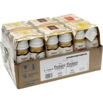 Frebini Energy Drink Mischkarton Banane/Erdbeere, 24X200 ml -