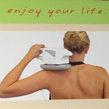Maspo Vibramat de Luxe Großflächenmassagegerät Massagegerät Inklusive 3 Massageaufsätzen Transporttasche -