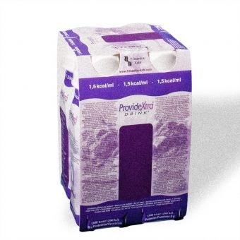 ProvideXtra DRINK Johannisbeere, 200 ml – niedermolekulare Zusatznahrung – 24 EasyDrinks -