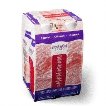 ProvideXtra DRINK Kirsche, 200 ml – niedermolekulare Zusatznahrung – 24 EasyDrinks -