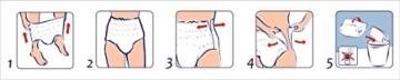 SENI Active Pants Gr.M 8X10 St -